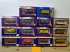 OO GAUGE MODEL RAILWAYS: A group of boxed DAPOL wagons - all limited editions as lotted - VG/E in