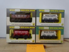 OO GAUGE MODEL RAILWAYS: A group of rarer WRENN wagons to include: 2 x W5104 tank wagons together