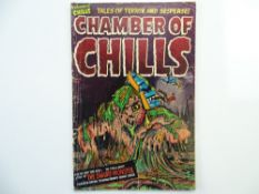 CHAMBER OF CHILLS # 12 - (1952 - HARVEY - Cents Copy) - Pre-Code Horror - Al Avison cover with