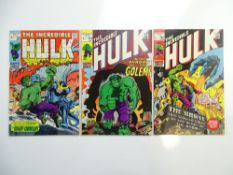 HULK # 126, 134, 140 (Group of 3) - (1970/71 - MARVEL - Pence Copy) - Run includes First