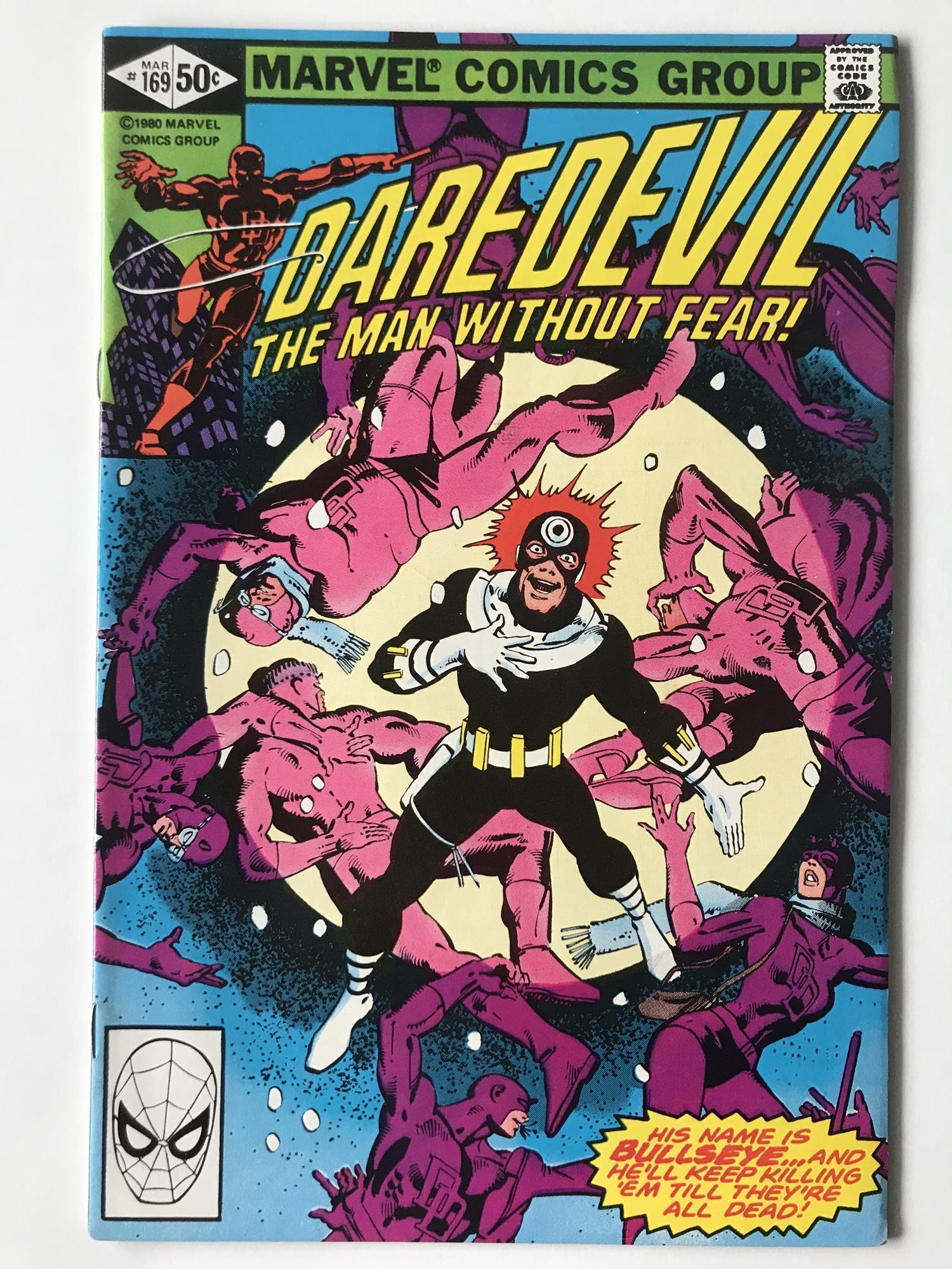 Lot 37 - DAREDEVIL # 169 (1981 - MARVEL - Cents Copy) - Second appearance of Elektra + Bullseye