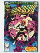 DAREDEVIL # 169 (1981 - MARVEL - Cents Copy) - Second appearance of Elektra + Bullseye