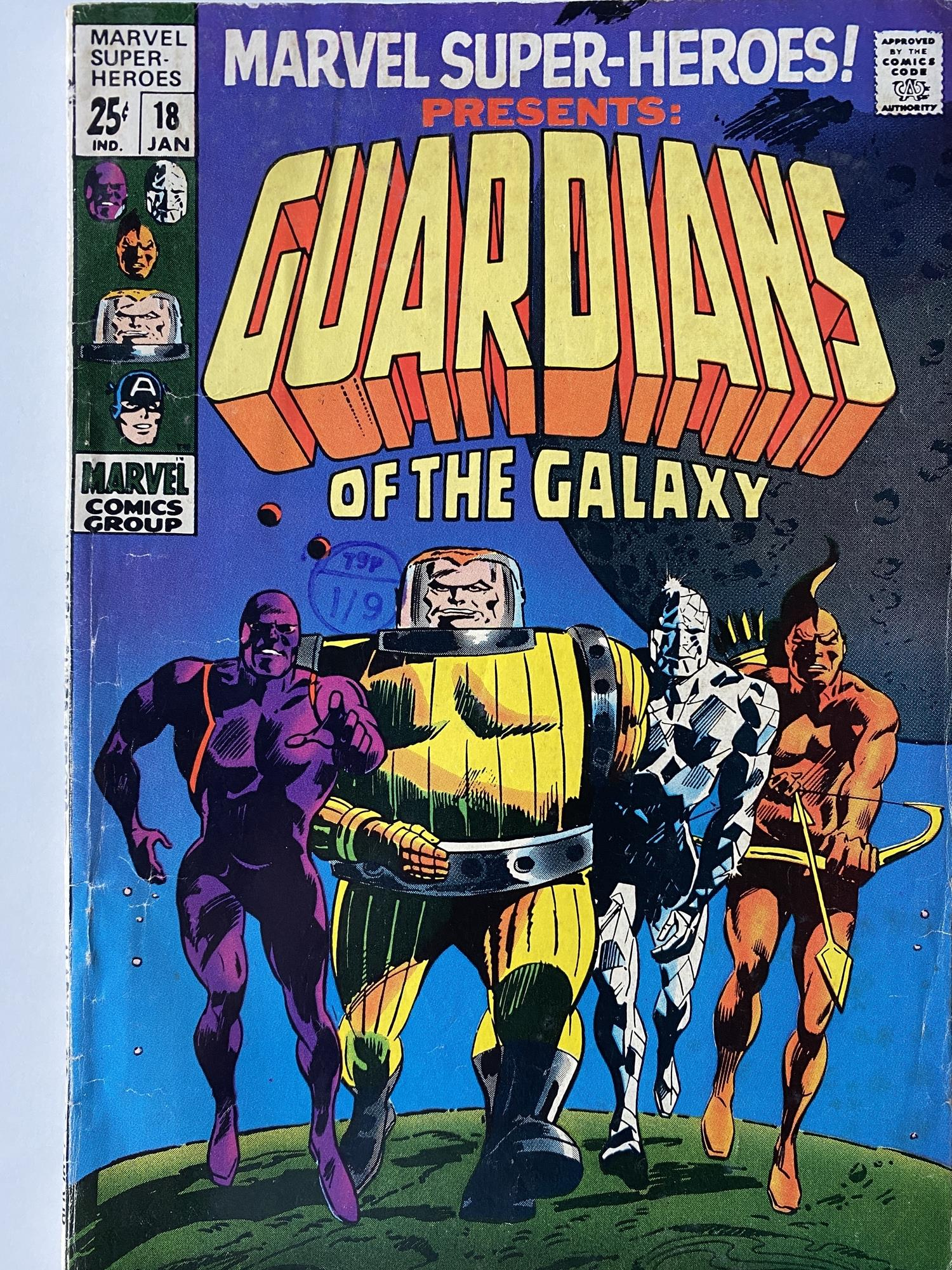 Lot 7 - MARVEL SUPER HEROES: GUARDIANS OF THE GALAXY # 18 (1968 - MARVEL - Cents Copy with Pence Stamp) -