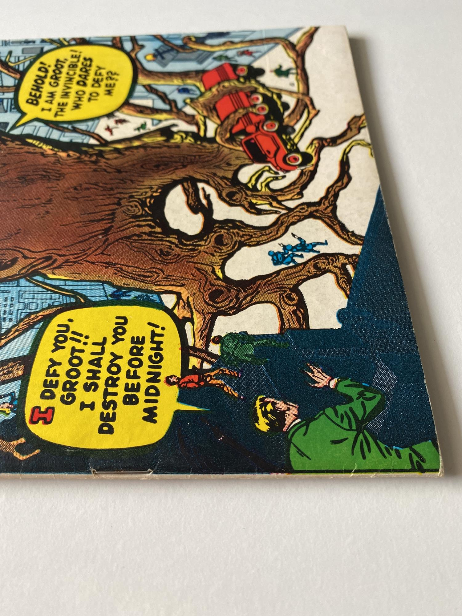 Lot 12 - WHERE MONSTERS DWELL # 6 (GROOT) - (1970 - MARVEL - Pence Copy) - First reprint appearance of