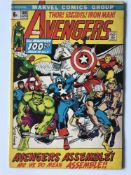 AVENGERS # 100 (1972 - MARVEL - Pence Copy) - Barry Windsor Smith cover and interior art +