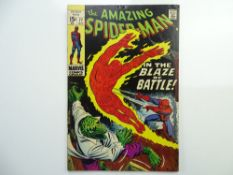 AMAZING SPIDER-MAN # 77 - (1969 - MARVEL - Cents Copy) - Spider-Man, the Human Torch, and the Lizard