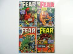 FEAR # 1, 2, 3, 4 (Group of 4) - (1970/71 - MARVEL - Cents Copy with Pence Stamp) - Flat/