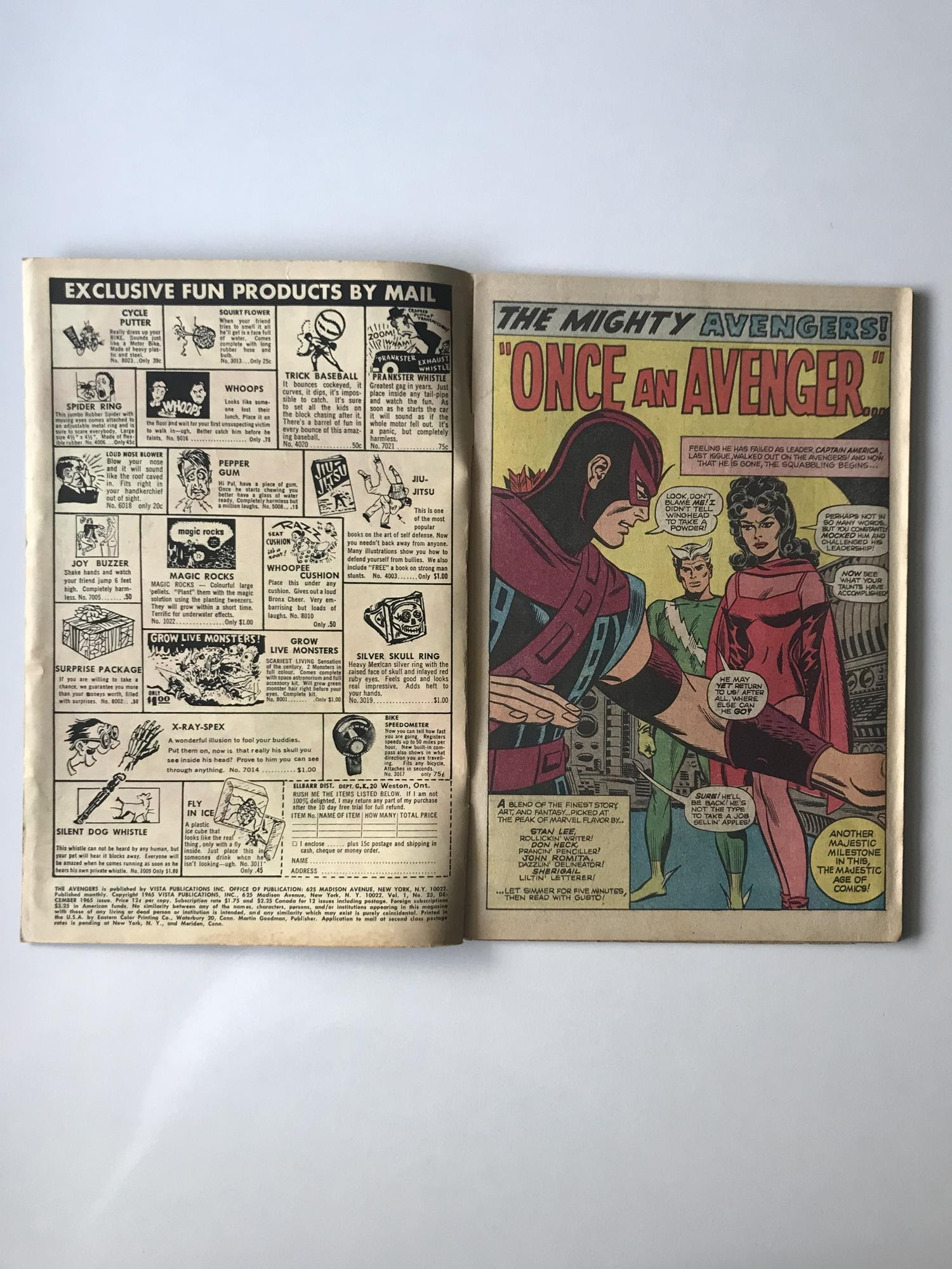 Lot 43 - AVENGERS # 23 (1965 - MARVEL - Cents Copy) - Kang appearance - Jack Kirby cover with Don Heck and