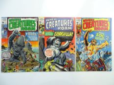 WHERE CREATURES ROAM # 3, 5, 6 (Group of 3) - (1969 - MARVEL - Cents Copy) - Jack Kirby, Don Heck,