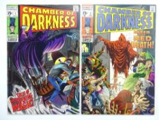 CHAMBER OF DARKNESS # 1, 2 (Group of 2) - (1969 - MARVEL - Cents Copy with Pence Stamp) - John