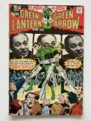 GREEN LANTERN # 84 - (1971 - DC - Cents Copy with Pence Stamp) - Partial photo cover (featuring