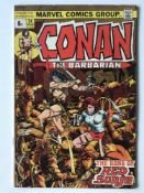 CONAN # 24 (1973 - MARVEL - Pence Copy) - First full appearance of Red Sonja - Barry Smith cover and