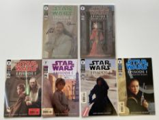 STAR WARS: EPISODE I - THE PHANTOM MENACE - SIGNED DYNAMIC FORCES LIMITED EDITIONS (Group of 3) - (