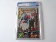 AMAZING SPIDER-MAN # 95 - (1971 - MARVEL - Cents Copy) - Graded 7.5 by CGC - Blue Tab with cream