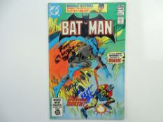 BATMAN # 338 - SIGNED - (1981 - DC - Pence Copy) - SIGNED - Signed (to front cover) dated and
