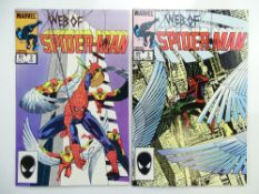 WEB OF SPIDER-MAN # 2 & 3 (Group of 2) - (1985 - MARVEL - Cents/Pence Copy) - Flat/Unfolded - a