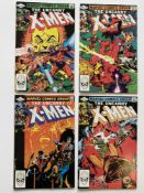 UNCANNY X-MEN # 158, 159, 160,161 (Group of 4) - (1982 - MARVEL Cents/Pence Copy) - First appearance