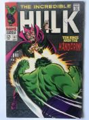 HULK # 107 (1968 - MARVEL - Cents with Pence Stamp) - Hulk battles Mandarin + Nick Fury and S.H.I.