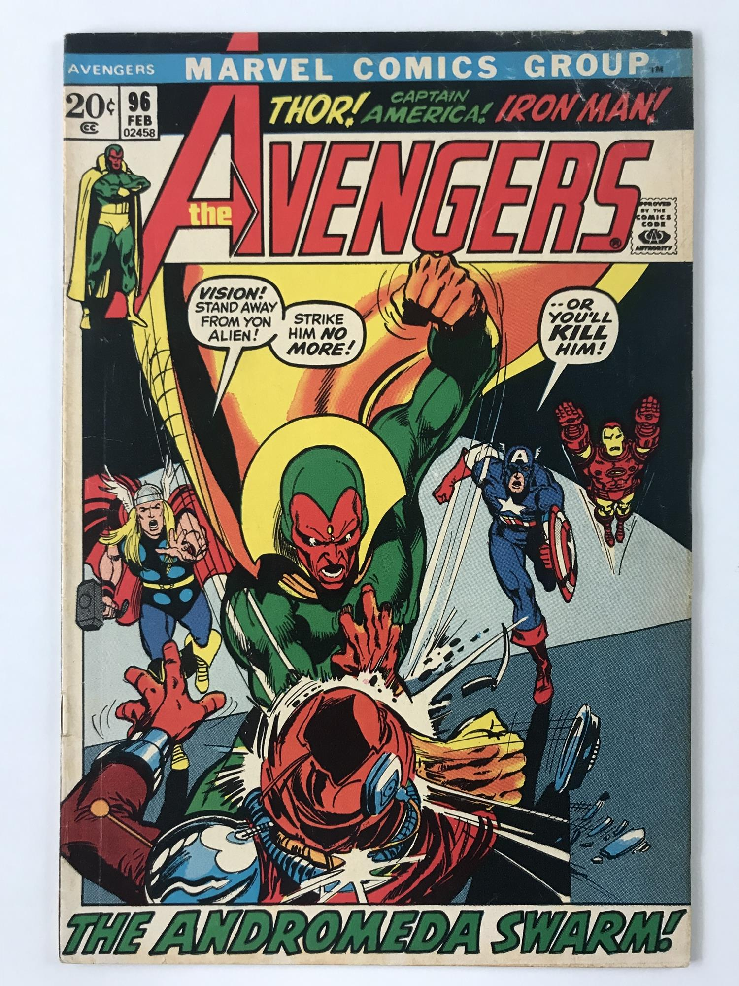 Lot 47 - AVENGERS # 96 (1972 - MARVEL - Cents Copy) - The Kree-Skrull War storyline continues + Annihilus and