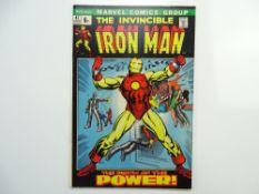IRON MAN # 47 (1972 - MARVEL - Pence Copy) - Classic cover - Iron Man's origin retold - Gil Kane