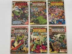 DEFENDERS # 18, 19, 20, 21, 22, 23 (Group of 6) - (1974/75 - MARVEL Pence Copy) - Flat/Unfolded -