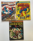 SPIDER-MAN MARVEL TREASURY EDITIONS LOT (Group of 3) - (1976/78 - MARVEL Cents & Pence Copy) - Lot