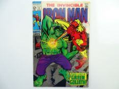 IRON MAN # 9 (1969 - MARVEL - Cents Copy with Pence Stamp) - Iron Man battles an android disguised