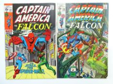 CAPTAIN AMERICA (& FALCON) # 137 & 138 (Group of 2) - (1971 - MARVEL - Cents Copy with Pence
