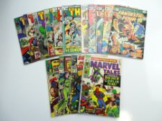 MIXED MARVEL SUPER-HERO LOT (Group of 15) to include THOR # 141, 146, 171, 173, 182, 204 - FANTASTIC