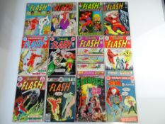 MIXED DC SUPER-HERO LOT (Group of 12) to include FLASH # 141, 165, 179, 191, 221, 222, 223, 225,