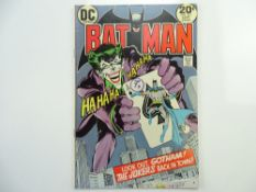 BATMAN # 251 (1973 - DC - Cents Copy with Pence Stamp) - Classic Joker cover and a key Bronze Age
