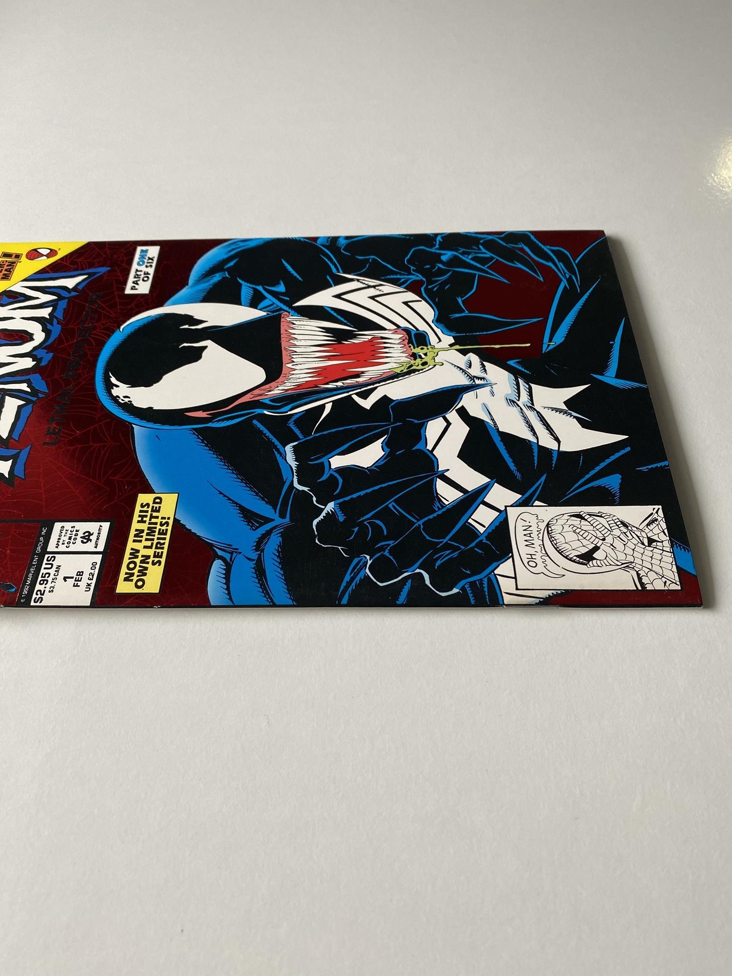 Lot 29 - VENOM: LETHAL PROTECTOR # 1 (1993 - MARVEL - Cents/Pence Copy) - First Venom solo title + Spider-Man