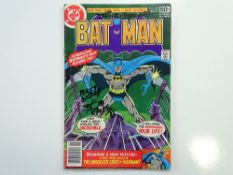 BATMAN # 303 - SIGNED - (1978 - DC - Cents Copy with Pence Stamp) - SIGNED - Signed (to front cover)