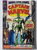 MARVEL SUPER HEROES: CAPTAIN MARVEL # 12 (1967 - MARVEL - Cents Copy with Pence Stamp) - Origin