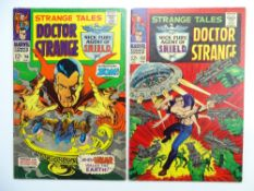 STRANGE TALES: DOCTOR STRANGE + NICK FURY: AGENT OF SHIELD # 153 & 156 (Group of 2) - (1967 - MARVEL