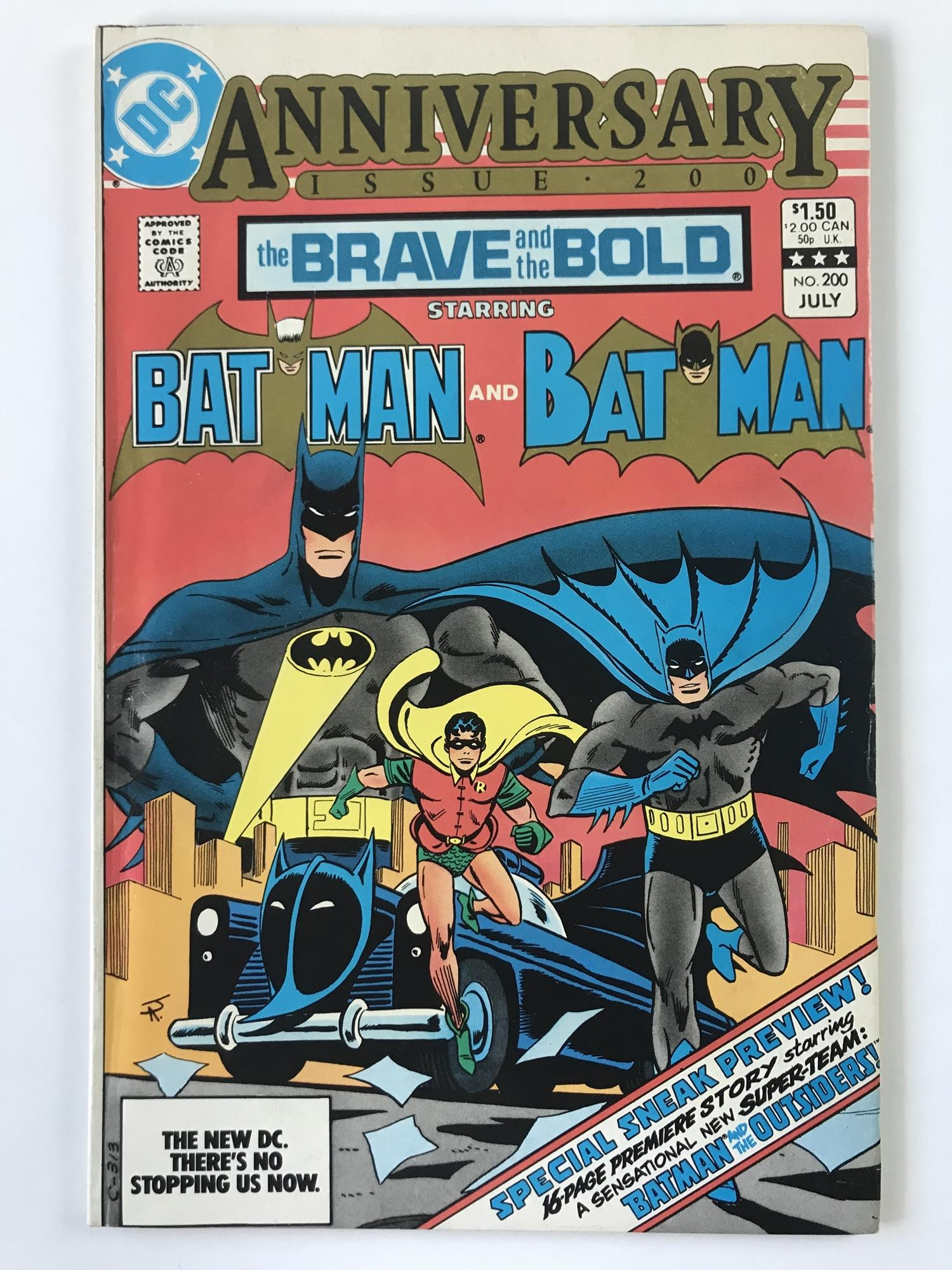 Lot 53 - BRAVE & BOLD: BATMAN # 200 (1983 - DC - Cents/Pence Copy) - Last issue + First appearance of