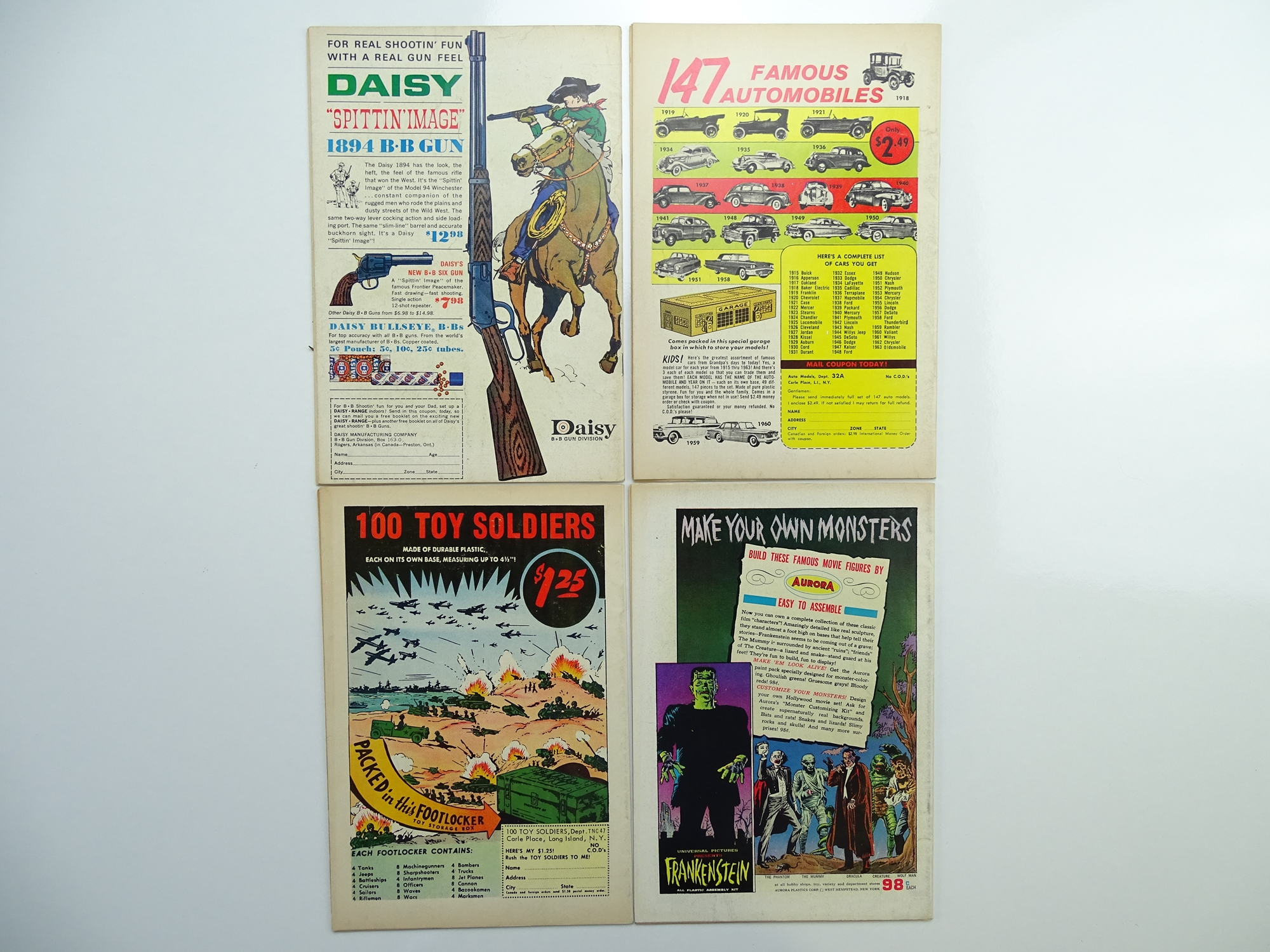 Lot 60 - SHOWCASE: TOMMY TOMORROW # 42, 44, 46, 47 (Group of 4) - (1963 - DC - Cents Copy) - Flat/