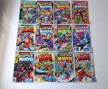 CAPTAIN MARVEL # 46, 47, 48, 49, 55, 56, 57, 58, 59, 60, 61, 62 (Group of 12) - (1976/79 -