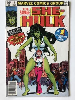 SAVAGE SHE-HULK # 1 (1979 - MARVEL - Cents Copy) - Origin and first appearance of She-Hulk, whose TV