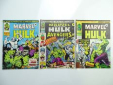 MIGHTY WORLD OF MARVEL: HULK #197, 198, 199 (Group of 3) - (1976 - MARVEL UK - Pence Copy) - First