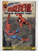 DAREDEVIL # 16 (1966 - MARVEL - Pence Copy) - Spider-Man crossover + First appearance of the