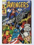 AVENGERS # 80 (1970 - MARVEL - Pence Copy) - First appearance and origin of Red Wolf - John