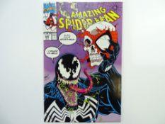 AMAZING SPIDER-MAN # 347 - (1991 - MARVEL - Cents/Pence Copy) - Classic Venom cover + Venom