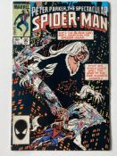 SPECTACULAR SPIDER-MAN # 90 (1984 - MARVEL - Cents/Pence Copy) - First black costume in title, which