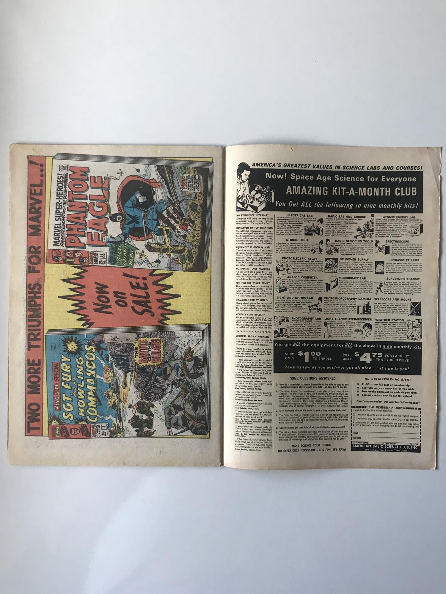 Lot 39 - HULK # 107 (1968 - MARVEL - Cents with Pence Stamp) - Hulk battles Mandarin + Nick Fury and S.H.I.