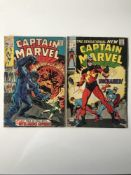 CAPTAIN MARVEL # 16 & 17 (Group of 2) - (1971 - MARVEL - Cents & Pence Copy) - Run includes 'New