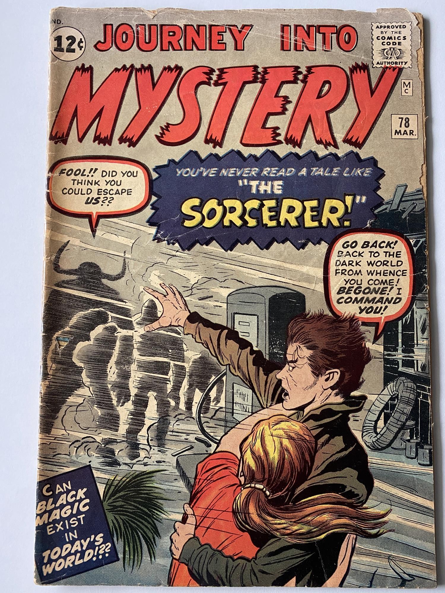 Lot 2 - JOURNEY INTO MYSTERY # 78 - (1962 - MARVEL - Cents Copy) - The Sorcerer (a Doctor Strange prototype)