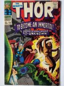 THOR # 136 (1967 - MARVEL - Pence Copy) - Second appearance of Lady Sif - Jack Kirby cover and