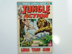 JUNGLE ACTION # 1 (1972 - MARVEL - Cents Copy) - Lorna Queen of the Jungle, Tharn the Magnificent,