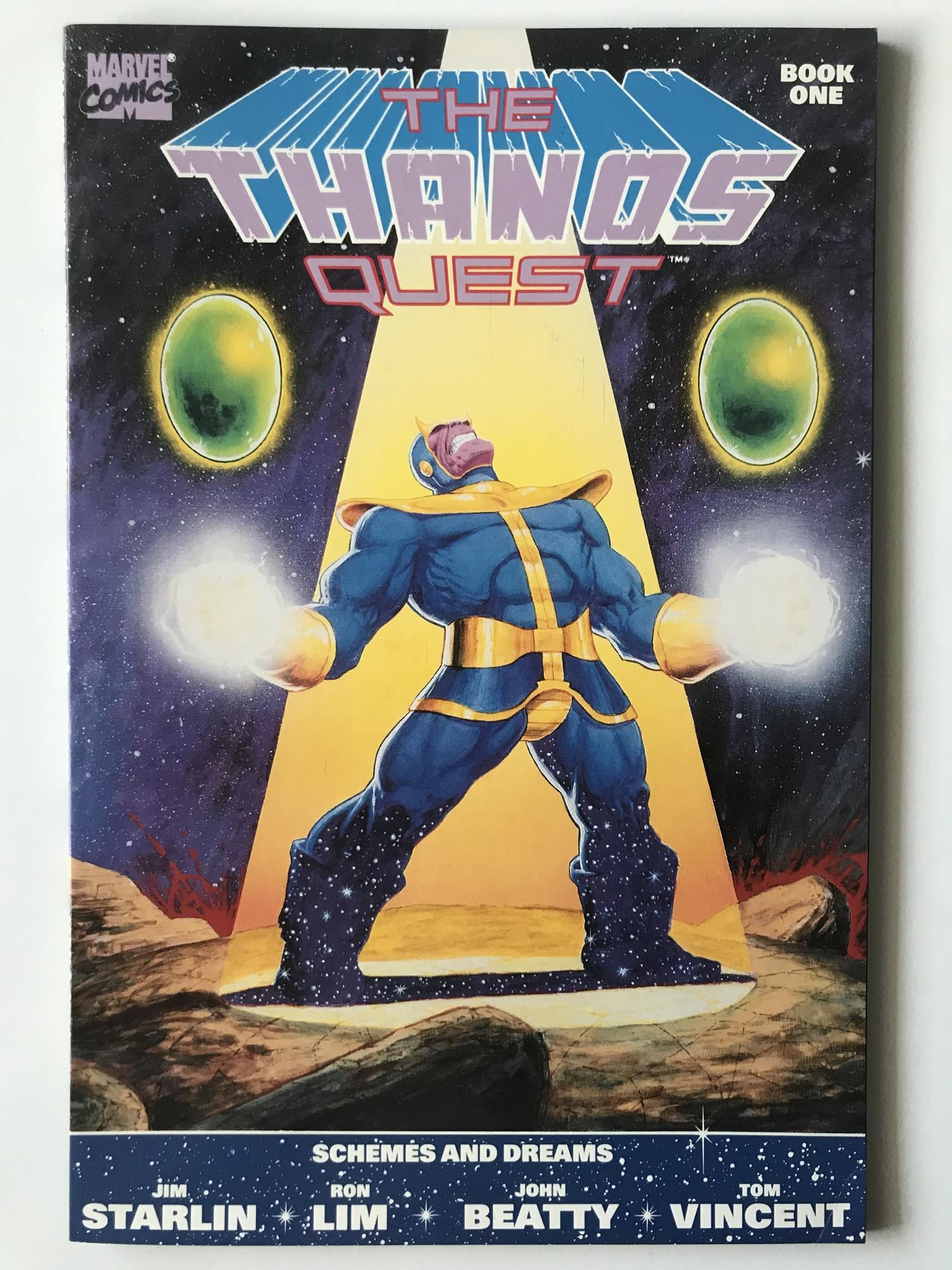 Lot 51 - THANOS QUEST # 1 (1990 - MARVEL - Cents Copy) - Thanos, In-Betweener, Champion, Gardener, Death